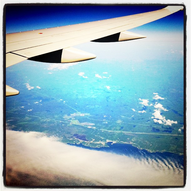 In flight. (Taken with instagram)
