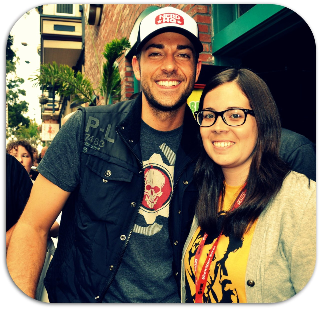 Hey, lookie! Zac & I at NerdHQ at Comic Con.