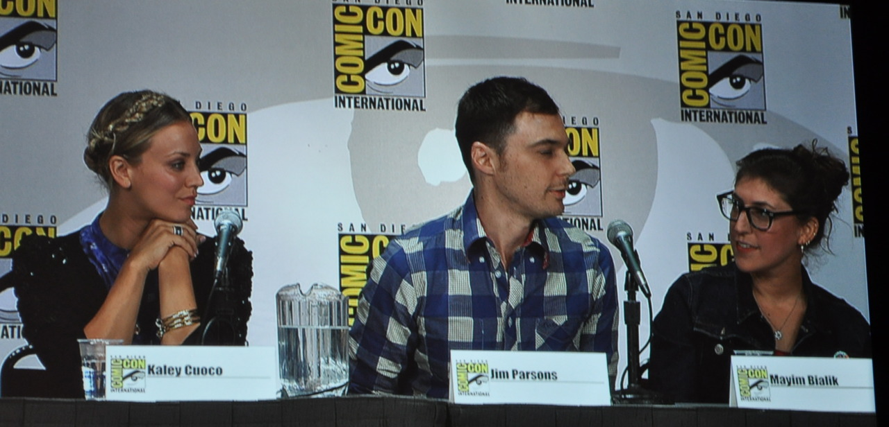 thetvsisters: Kaley, Jim & Mayim at THE BIG BANG THEORY panel at San Diego Comic Con. July 22, 2