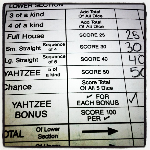 #Yahtzee Domination continues… (Taken with instagram)