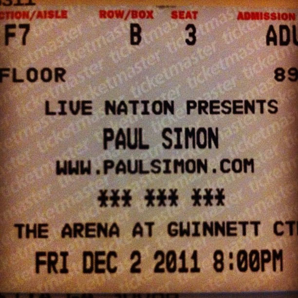So close. #paulsimon #concerts (Taken with instagram)