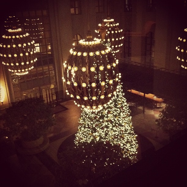They know how to decorate at 191 Peachtree. #atlanta (Taken with instagram)